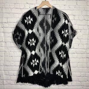 American Eagle Aztec Kimono Poncho Sweater